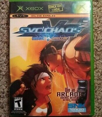 SNK vs. Capcom: SVC Chaos (Microsoft Xbox, 2004) Disc Only Tested