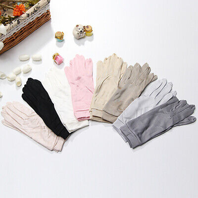 one pair glove 100% silver mittens mulberry silk women glove protection for hand