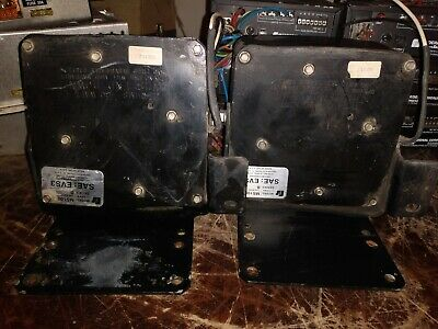 Lot Of 2 Federal Signal Ms100 Speaker With Bracket