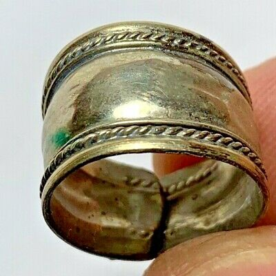 RARE LATE MEDIEVAL SILVER RING INTAGLIO SUPERB 2.9gr 22mm (inner 17mm)