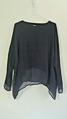 Italian Lagenlook Baggy Soft Button Arm Necklace Long Top One Size UK 14-26 C165