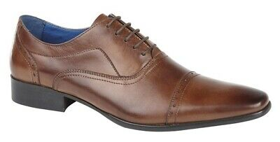 Mens Roamers Leather Lace Up Smart Oxford Shoes Size 6 7 8 9 10 11 12 13 14