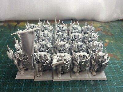 Warhammer AOS slaves to darkness Chaos Warriors With Metal Halberds