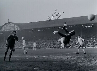 Signed Alex Stepney Manchester United v Liverpool Saving Header Autograph COA