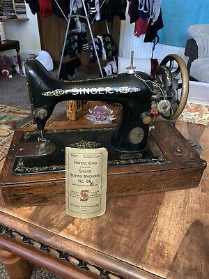 Antique Singer Sewing Machine Model No 99 Oscillating Hook F8343408 1918