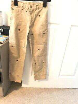Boys Age 7 Polo ralph lauren Beige Smart Trousers/chinos With Anchor Embroidery