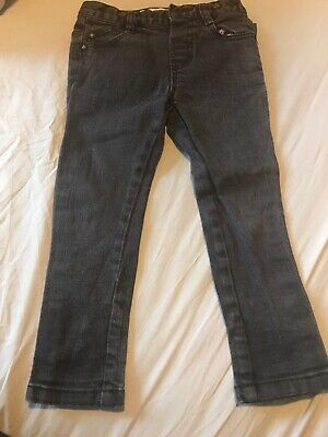 Boys Grey Black Ted Baker Skinny Jeans Age 4