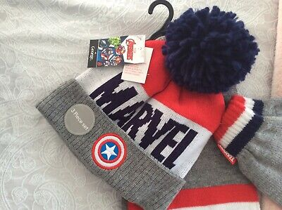 Marvel scarf hat and glove set