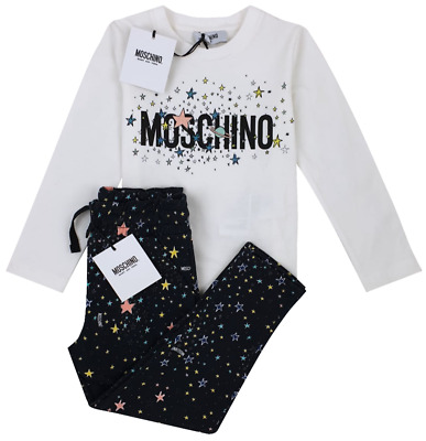 NEW MOSCHINO KIDS RRP £225 Girls Childrens Trouser Top Set AGE 4 YEARS A520