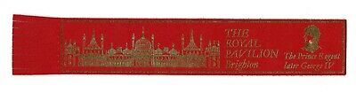 The Royal Pavilion. Red Leather English Bookmark.