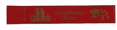 Layer Marney Tower. Red Leather English Bookmark.