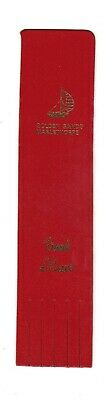 Mablethorpe. Red Leather English Bookmark.