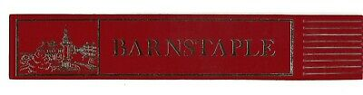 Barnstable. Red Leather English Bookmark.