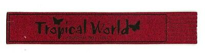 Fire Service. Red Leather English Bookmark.