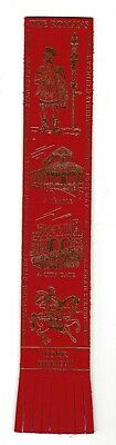 York. Red Leather English Bookmark.