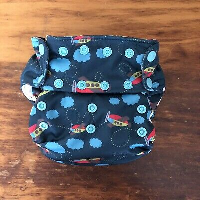 EEEUC Smart Bottoms 3.1 AIO Organic Cloth Diaper Airplanes Airplane All In One