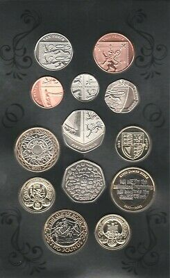 2011 BUNC set UK coinage in original pack thirteen coins in Royal Mint Pack