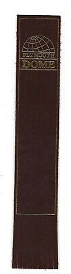 Plymouth Dome. Red Leather English Bookmark.