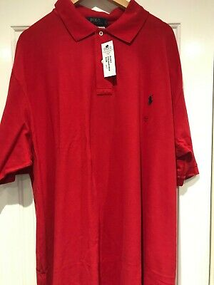 Ralph Lauren Red Polo Shirt 3XLT - Brand New with Labels