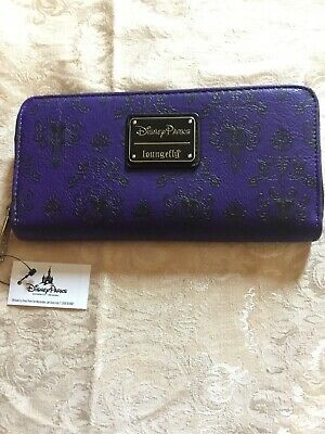 Disney Parks Loungefly Haunted Mansion  Purple Zip Wallet