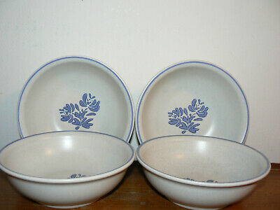 "Set of 4 Pfaltzgraff Yorktowne 6"" Soup Cereal Bowls - USA - Modern Backstamp"