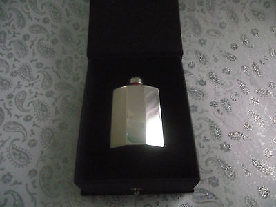 ART DECO PERFUME BOTTLE WITH GLASS DAUBER BOXED MARKED STERLING SILVER c1930