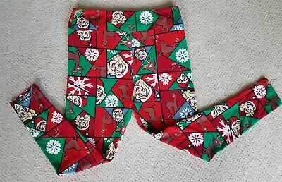 Christmas Leggings LuLaRoe Extra Large Stretch One Size Fits All Soft Excellent