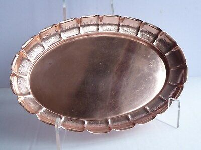 Antique Arts & Crafts style Oval  Copper Tray. Joseph Sankey, Bilston.