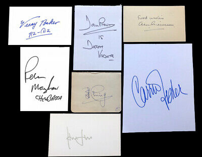 STAR WARS cast signed autograph CARRIE FISHER, ALEC GUINNESS, HARRISON FORD