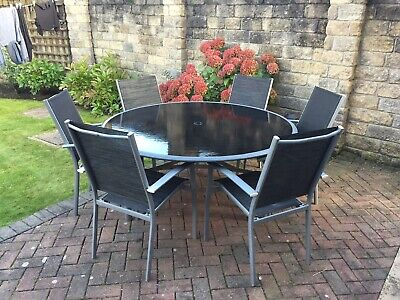 Garden & Patio Glass Dining Table  and 6 Chairs set