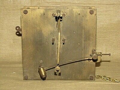 Early Antique German Chain Driven Wall Clock Movement PEERLESS Parts Repair