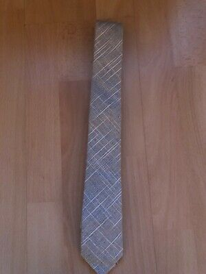 Mens grey star print tie from Topman New with tags