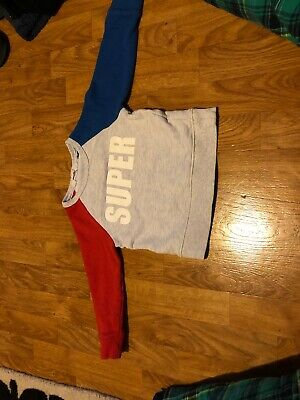 h&m boys grey/red/blue jumper age 2-4 years