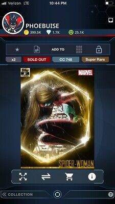 Topps Marvel Collect Spider-Woman ULTIMATE UNIVERSE 2nd Printing [DIGITAL] 250cc