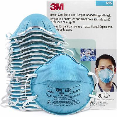 3M N95 1860 Medical Hospital Surgical Particulate Respirator Mask 20 PCS/box