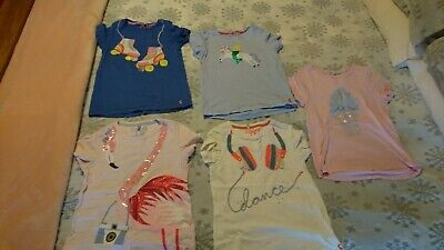 Joules Girls T Shirts Age 9 - 10 Years X 5