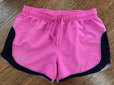 Girls Extra Large XL YXL Under Armour UA Athletic Running Short Hot Pink *AS IS*