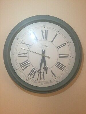 Reigham Vintage Style Duck Egg Wall Clock 45 cm