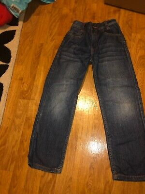 ted baker boys blue wash jeans with adjustable waist age 8 years