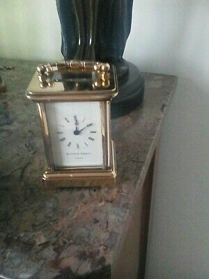 Small vintage Mathew Norman 8 day carriage clock