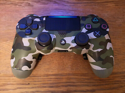 Sony DualShock 4 Wireless Controller V2 - Green Camo. Modded with Back Buttons.