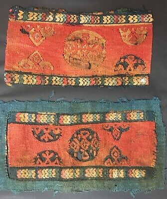 Beautiful  Coptic Textile Fragments, Ancient Egypt, Early Christian Art, 5th c.