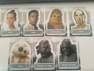 Topps Star Wars The Rise Of Skywalker Sticker Face Cards