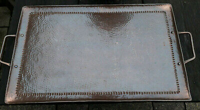 Antique Arts & Crafts Copper Tray Hammered Finish - Newlyn ? John Pearson ?