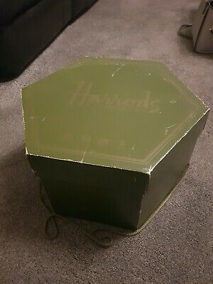 Vintage Harrods Knightsbridge Green Hat Box