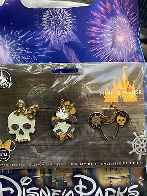 Disneys Main Attraction Minnie Mouse Pirates Of The Caribbean Pin Set