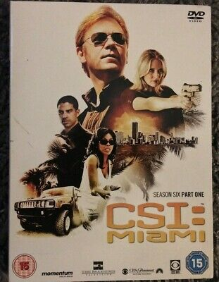 CSI: MIAMI SEASON SIX PART ONE - 3 DVD BOX SET - David Caruso, Khandi Alexander