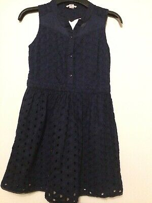 Girls River Island Navy Blue Lace Cut Out Dress Age 11 Years Immaculate Con