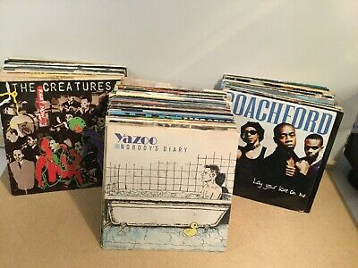 "JobLot of 100 Vinyl Singles in Pic Sleeves 7"" Records   - All Pictured - LOT 15"