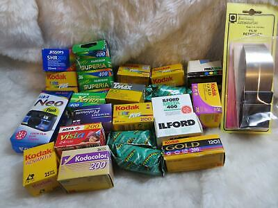 35mm OUTDATED Film Bundle Assorted Film Types +KONICA NEO + FILM RETRIEVER